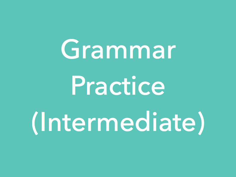 Study Material Content for 'Grammar Practice Lessons - Intermediate'