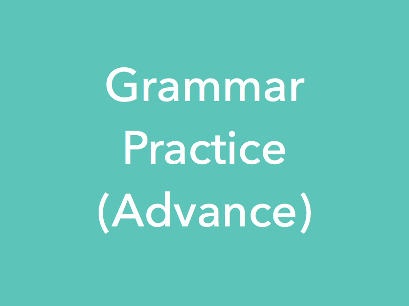 Study Material Content for 'Grammar Practice Lessons - Advanced'